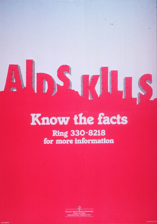 <p>Fuchsia and light blue poster with fuchsia and white lettering.  Title near center of poster.  The font for the initial title phrase has many lines through it, like cracks in carved rock.  The letters are also at varying heights.  Remaining title text below.  Publisher information at bottom of poster.</p>