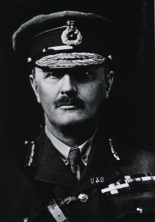 <p>Bust, full face; wearing cap, Field-Marshal.</p>
