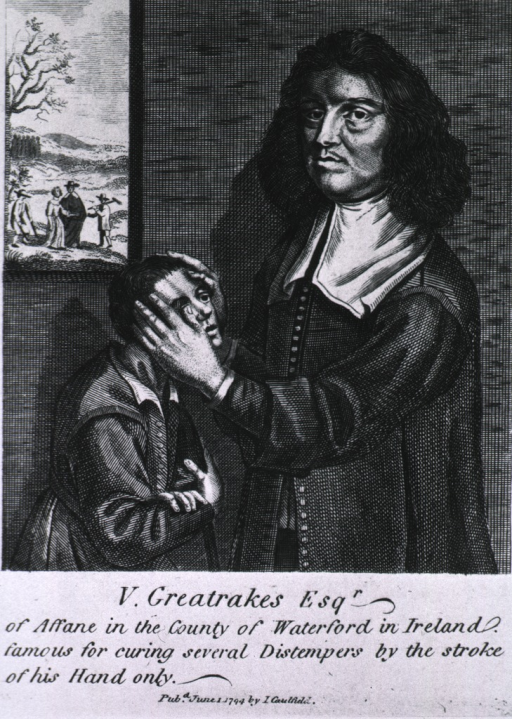 <p>Standing, left profile, with hands on face of child at left; window in background.</p>