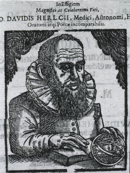 <p>Half-length, right pose, full face; one hand on open book, other on globe.</p>