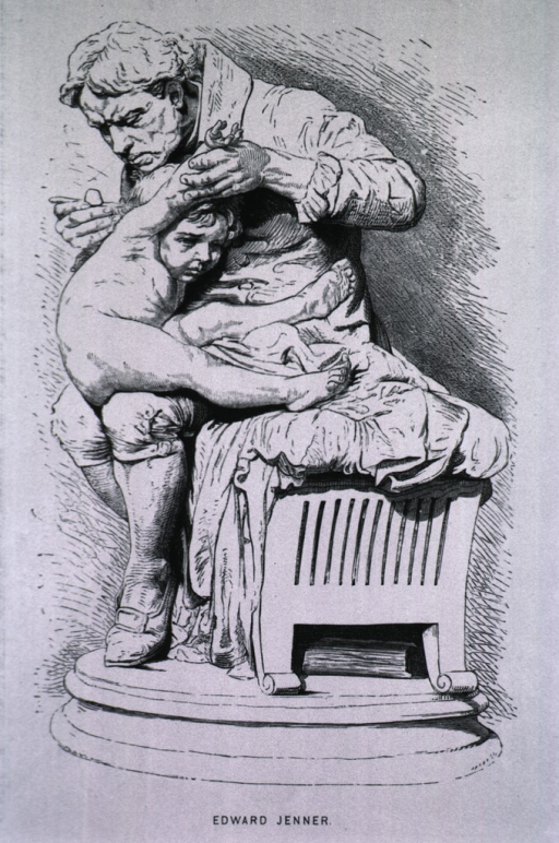<p>Statue:  Showing Jenner inoculating a child.</p>