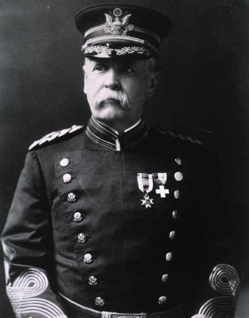 <p>Half-length front pose, wearing full dress uniform and cap (Colonel).</p>