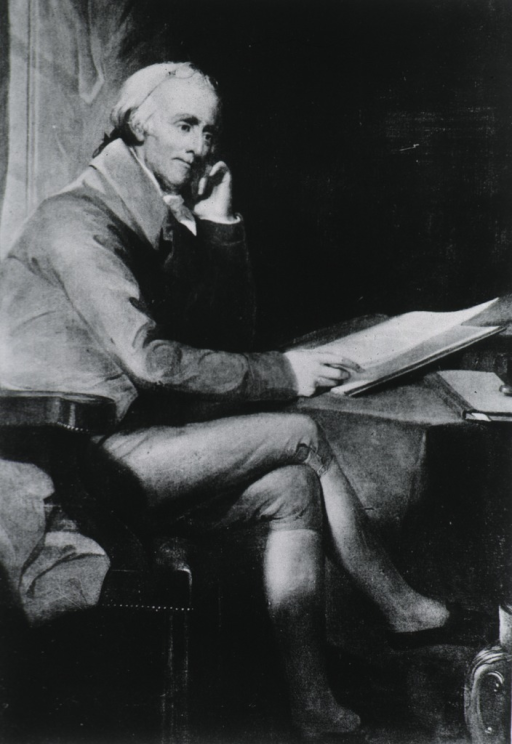 <p>Seated, right pose, full length.</p>