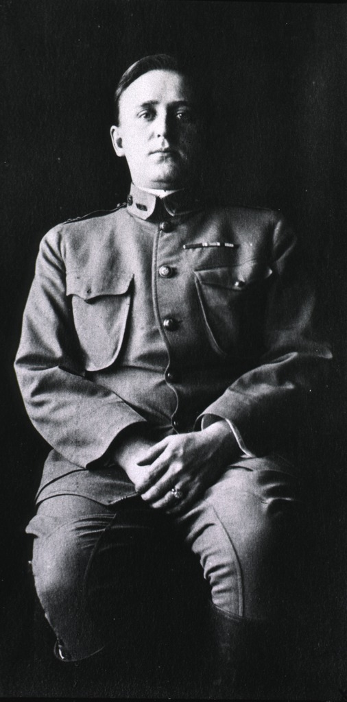 <p>Three-quarter length portrait, seated, facing front, of Dr. William C. Rucker dressed in the uniform of the U.S. Public Health and Marine Hospital Service during the San Francisco plague campaign.</p>