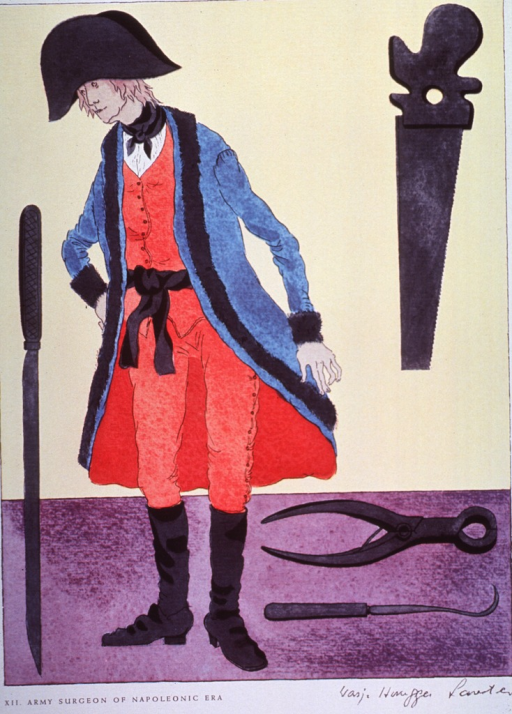 <p>Costume of army surgeon during the Napoleonic Era.</p>