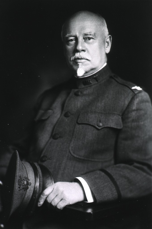 <p>Seated, half length; left pose, in uniform; hat in hands.</p>