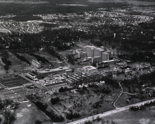 <p>View of NIH campus before NLM was built.</p>