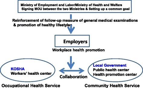 Reinforcement of workplace health promotion activities through the collaboration of central and local agencies in Korea