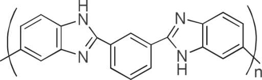 Chemical structure of PBI.