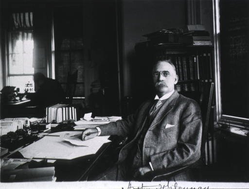 <p>Half-length, left pose, full face; seated at desk.</p>