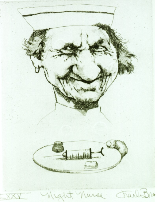 <p>A syringe, a swab, and an ampule are on a tray held by a smiling nurse.</p>