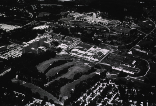 <p>View of the NIH campus before Building 31 was built.</p>