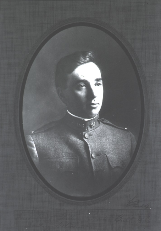 <p>Head and shoulders, wearing uniform, in oval.</p>