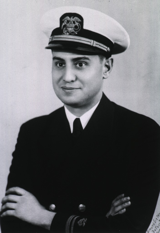 <p>Half-length, full face, arms folded wearing USPHS uniform and white cap with insignia.</p>