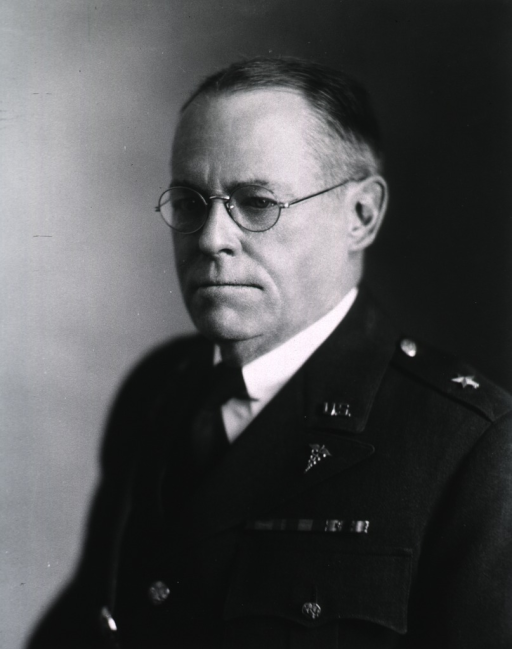 <p>Head and shoulders, face to left, wearing uniform (Brigadier General).</p>