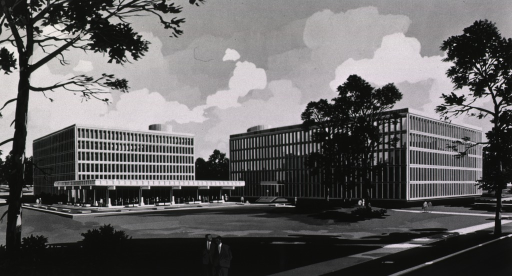 <p>Artist rendering of Buildings 36 and 37 before construction.</p>