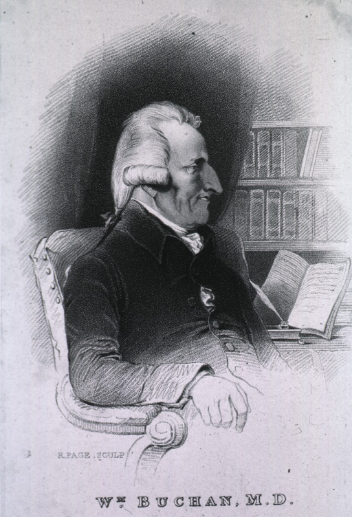 <p>Seated, right pose, with open book.</p>