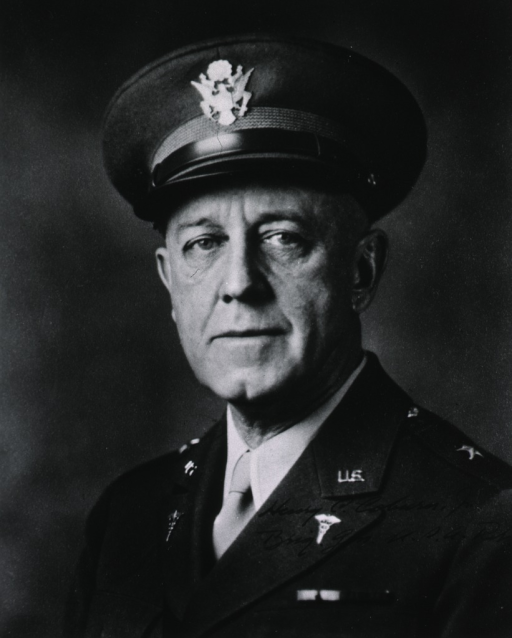 <p>Head and shoulders, full face, wearing uniform and cap (Brigadier General).</p>