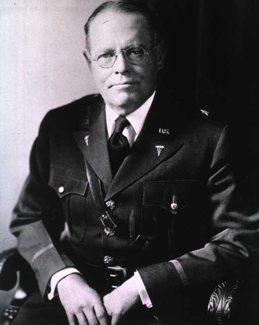 <p>Half-length, full face, seated, hands in front, wearing uniform (Brigadier General).</p>