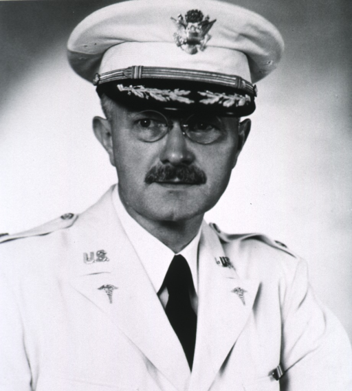 <p>Head and shoulders, full face, in white uniform, colonel.</p>