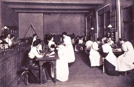 <p>Interior view of the physiology laboratory.</p>