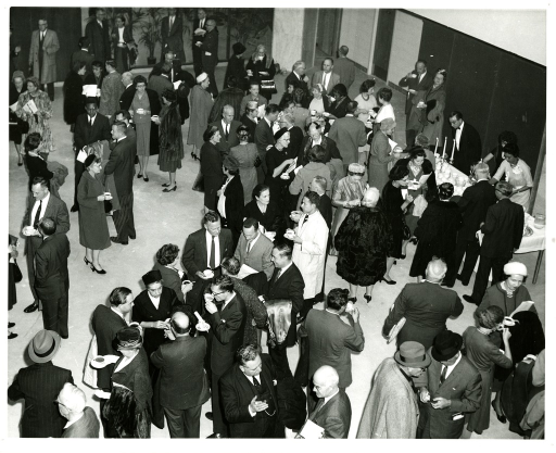 <p>Large group of people at the NLM Dedication Ceremony on December 14, 1961.</p>