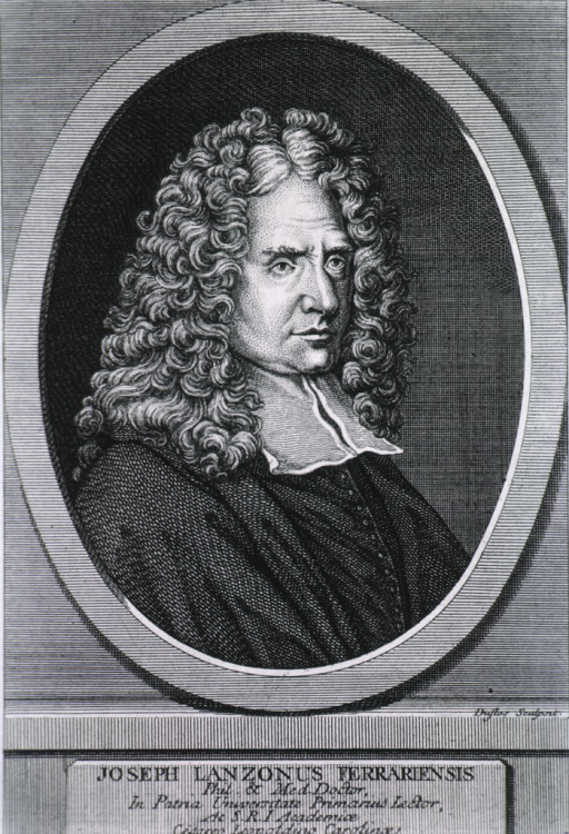 <p>Head and shoulders, right pose, wearing curled wig; in oval.</p>