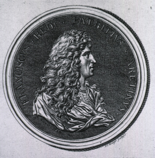 <p>Medallion showing right profile.</p>