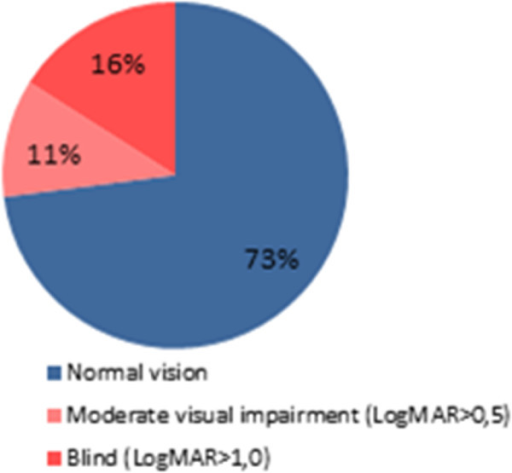 Distribution Of Visual Acuity In A Cohort Of 22 Patient Open I