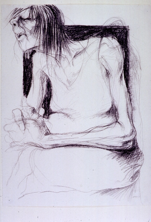 <p>A crayon drawing of a patient at Western State Hospital, a mental institution, Staunton, Va.</p>