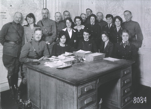 <p>Group portrait of officers and staff.</p>