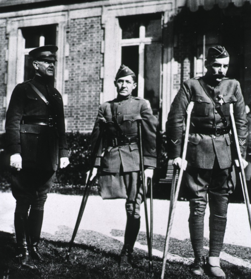 <p>Showing Brig. General Preston Brown, Major Junius Walthall, and Capt. William G. Reynolds.</p>