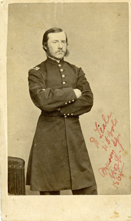 <p>Black and white photograph of Charles A. Leale, a surgeon in the Union Army during the American Civil War. Leale was the first doctor to reach President Abraham Lincoln after he was shot in Ford's Theater.</p>