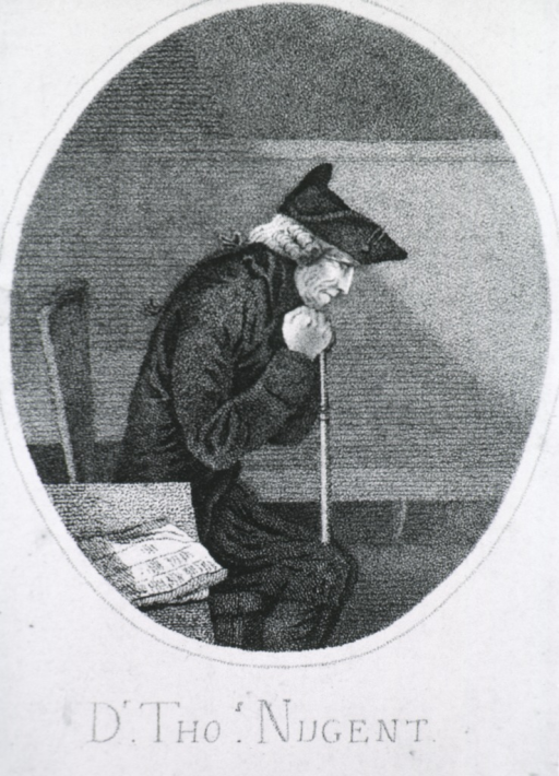 <p>Seated, right pose, head on cane.</p>