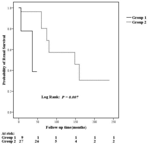 Comparison of renal outcomes between subgroups of patients with renal TMA.