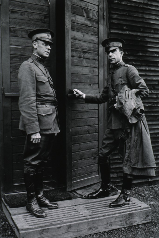 <p>Full length, wearing uniform.  Also shown is Major Louis B. Wilson.</p>