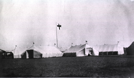 <p>A view of the Petersburg tent.</p>