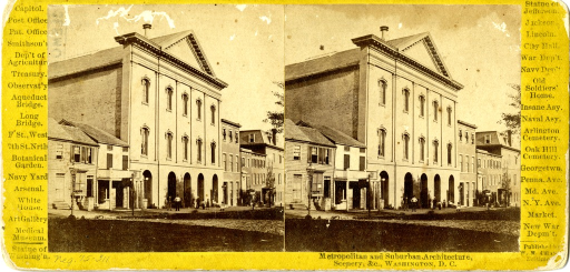 <p>A black and white stereograph of Ford's Theatre Library in Washington D.C..</p>
