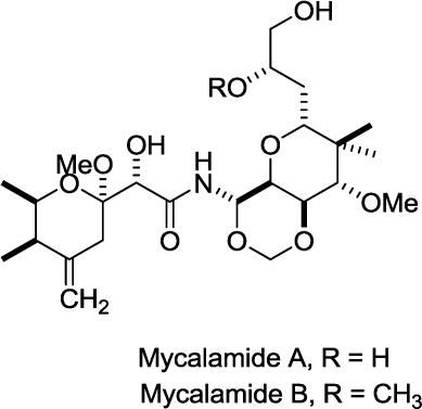 Structures of mycalamide A and B.