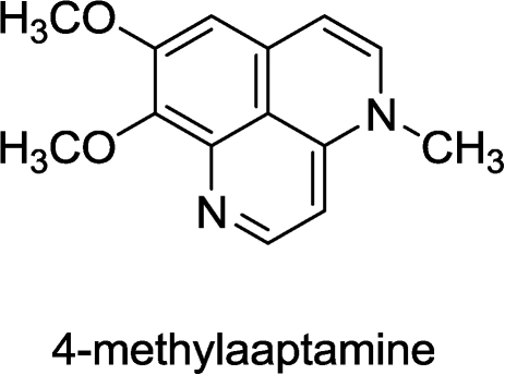 Structure of 4-methylaaptamine.