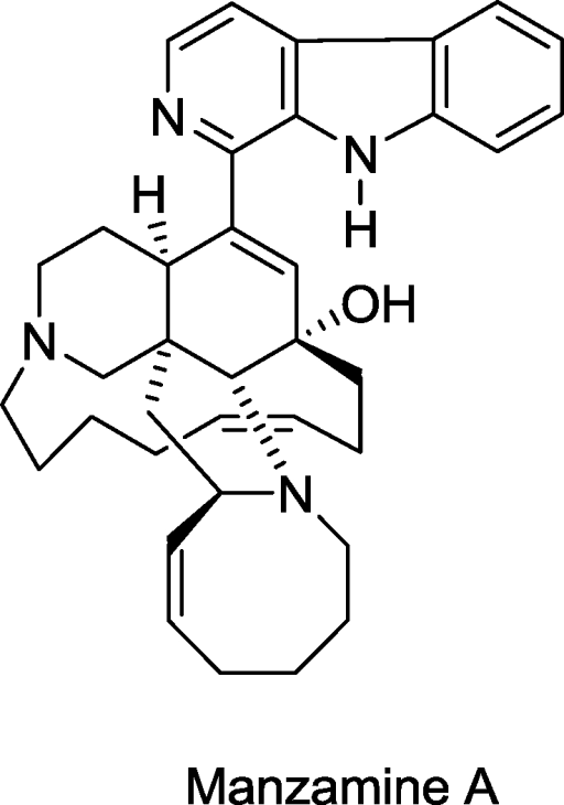 Structure of manzamine A.