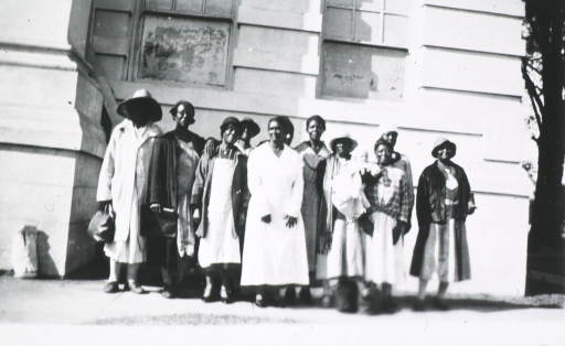 <p>African American granny midwives gathered for a group photo.</p>