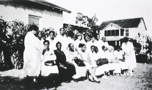 <p>African American granny midwives gathered for meetings.</p>