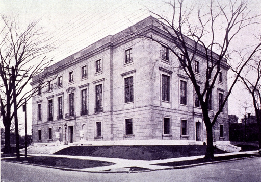 <p>Exterior view.  From 1942 to 1962 the History of Medicine Division of the National Library of Medicine (earlier names: Army Medical Library (1922-1952) and Armed Forces Medical Library (1952-1956)) was located here.</p>