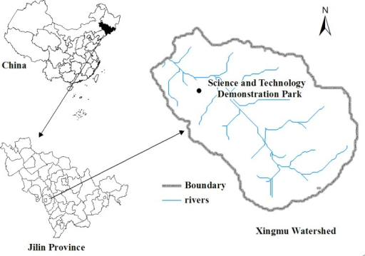 Location of the study area in Xingmu watershed.