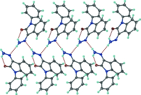 Hydrogen-bonded chain structure.