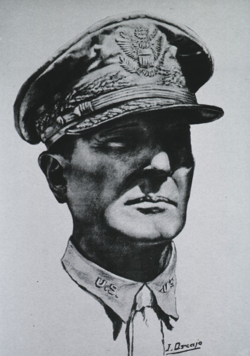 <p>Head to right, wearing officer's cap.</p>