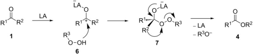 General mechanism of the Lewis acid-catalyzed Baeyer–Villiger rearrangement.