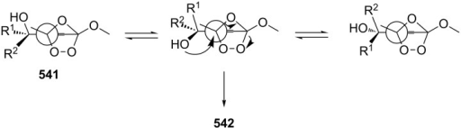 The transformation of peroxides 541.