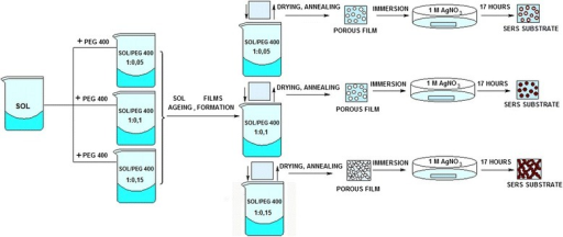 Illustration of the synthesis of the hybrid silica films.